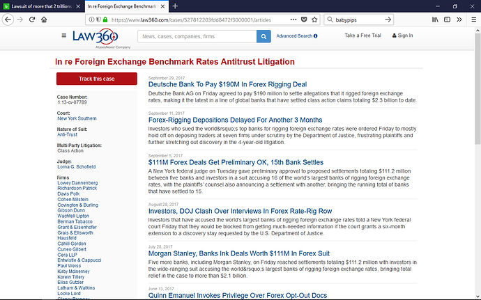 Forex manipulation lawsuit